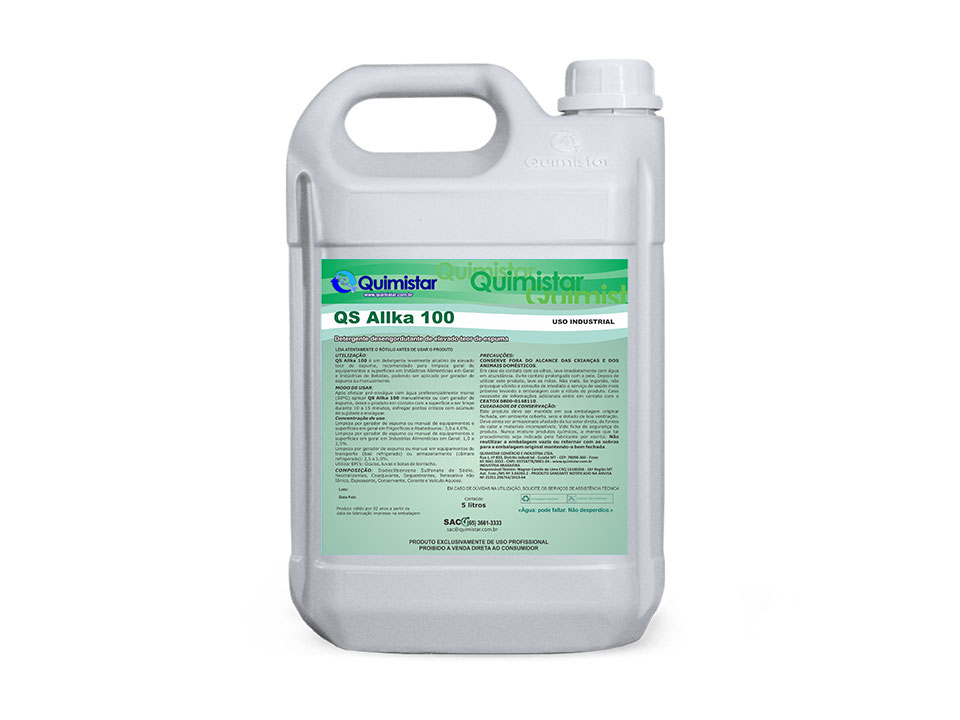 Limpador alcalino clorado
